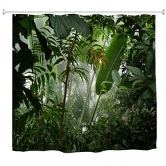 Misty Rainforest Water-Proof Polyester Printing Bathroom Shower Curtain - multicolor A INCH * INCH Tapestry Curtains, Hanging Tapestry, Hanging Wall Art, Tapestries, Cheap Shower Curtains, Bathroom Shower Curtains, Hookless Shower Curtain, Curtains For Sale, Simple Bathroom