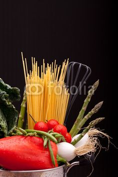 Stock photo available for sale at Fotolia: Vegetables And Spaghetti
