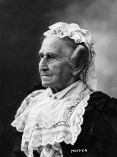Nancy Allison McKinley, the mother of President William McKinley.  HAPPY MOTHER'S DAY!  From the collection of the McKinley Presidential Library & Museum, Canton, Ohio