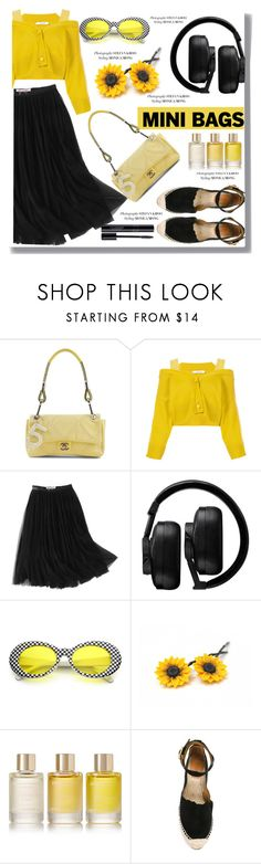 """""""Mini Bags"""" by drigomes ❤ liked on Polyvore featuring Chanel, Dorothee Schumacher, WithChic, Master & Dynamic, Aromatherapy Associates and Chloé"""