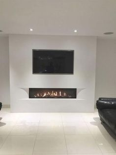 Most modernized and charming TV wall designs. - Most modernized and charming TV wall designs. Living room tv Couch Tulp balanced flue gas fire with - Living Room Tv Wall, Living Room Inspiration, Trendy Living Rooms, Living Room Tv, Fireplace Design, Living Room With Fireplace, Living Room Modern, Fireplaces Layout, Room Design