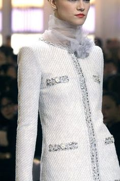 Chanel ~ White Jacket details