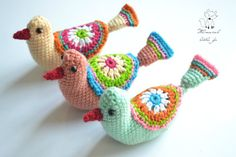 Crochet pattern crochet bird pattern por WhimsicalLittleFox en Etsy