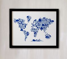 60x48 printable world map diy travel pinboard map 60x48 world map little big world map wall art by minted pottery barn kids gumiabroncs Images