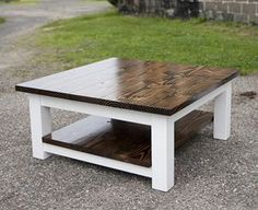 Square Coffee Table W Planked Top Free Diy Plans For The Home