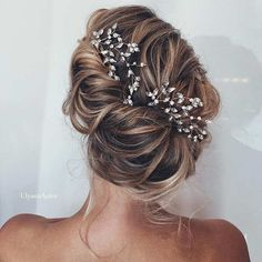 Messy Updo with a Beautiful Hairpiece