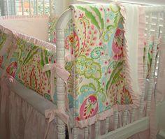 Kumari Garden Crib Bedding Baby Bedding 3 Piece by IronAndThread, $295.00