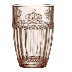 Global Amici Victoria Crown 14 oz. Highball Glass Color: Rose Quartz