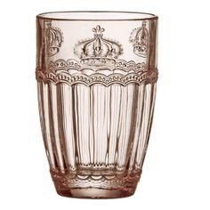 Global Amici Victoria Crown 14 oz. Highball Glass Color: Rose Quartz