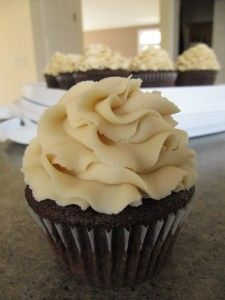 Bailey's Irish Cream Frosting - sounds good on a chocolate cupcake.