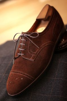 theshoesrealist:  J.M. WESTON RTW Brown Suede Full Brogue Rare Old Vintage The Great French Archives of Shoes