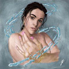 Art Drawings, Digital Art, Behance, Photoshop, Gallery, Hair Styles, Illustration, Artwork, Beauty