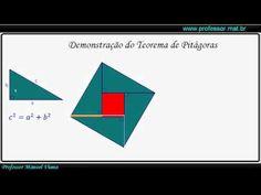 Vídeo Youtube: Demonstração do Teorema de Pitágoras.