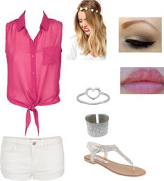 """""""Lacey's Beach Outfit"""" by crazyovernialler ❤ liked on Polyvore"""
