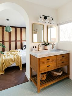 a master bedroom with en-suite bathroom and nature views Image Asset 1 Non Slip Bathroom Flooring, Bathroom Floor Tiles, Condo Bathroom, Master Bedroom Bathroom, Remodel Bathroom, Washroom, Dream Bedroom, Bathroom Interior, Modern Bathroom