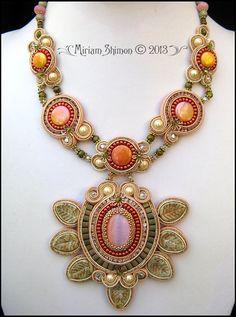Soutache pendant necklace by Miriam Shimon