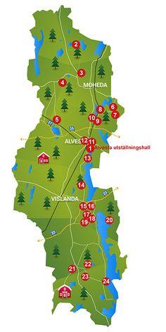 Kulturrundan Alvesta - karta 2017 Map, Location Map, Maps