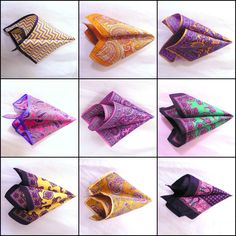 Custom Prefolded Men's Pocket Squares in Silk, Linen, Cotton !