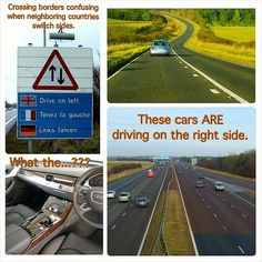 If you're from the 75 percent of countries that drive on the right side of the road you would say it's Americans that are driving on the wrong side of the road. National Left Handed Day, Right Side, Paradox, Countries, Wednesday, Bucket, Sayings, Lyrics, Buckets