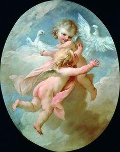 Victorian Paintings, Arte Popular, Angel Art, Mural Painting, Renaissance Art, Old Art, Religious Art, Beautiful Paintings, Oeuvre D'art