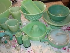 Jadeite Depression Glass.