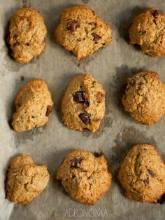 jadłonomia · roślinne przepisy: Dyniowe ciasteczka z czekoladą
