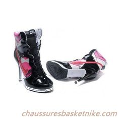 Femme Nike Dunk Low SB Top High Heels Chaussures Noir Rose Or Vente