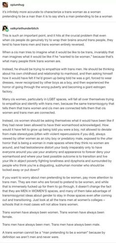 Trans men and women - genders sympathising