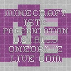 Minecraft ISTE presentation details onedrive.live.com