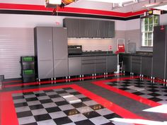 DIY garage man cave - With the right interior, your man cave be the envy of all the boys in the neighborhood. Paint the garage walls Garage Storage Solutions, Diy Garage Storage, Garage Shelving, Storage Ideas, Shelving Ideas, Garage Organization, Workshop Organization, Shelf Ideas, Organization Ideas