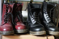 Dr Martens - old favourites - everyone should own a pair of black and cherry red DM's