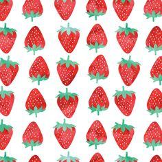 Strawberries fabric by littlearrowdesign on Spoonflower - custom fabric