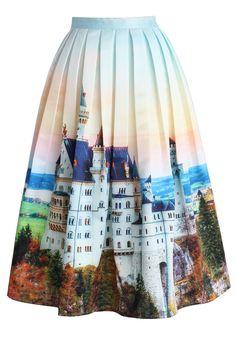 C: OMG ich brauche diesen Rock! Perfekte Dirndlalternative für die Wiesn! // Schloss Neuschwanstein – Plissierter Midirock - Retro, Indie and Unique Fashion