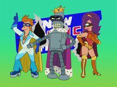 Futurama - New Justice Team. Go go go new justice team!