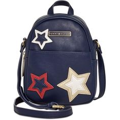 Tommy Hilfiger Aurora Embellished Mini Backpack Crossbody (3,805 MKD) ❤ liked on Polyvore featuring bags, backpacks, backpack, tommy navy, star backpack, miniature backpack, navy backpack, crossbody backpack and tommy hilfiger