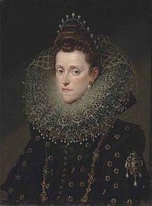 Studio_of_Frans_Pourbus_II_Portrait of Eleanor de' Medici, Duchess of Mantua, 1600 Renaissance Portraits, Italian Renaissance, Historical Art, Historical Costume, Adele, Oil Portrait, Portrait Paintings, Pencil Portrait, Spanish Fashion