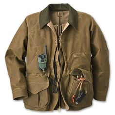 Filson TIN CLOTH FIELD COAT WITH ZIPPER- Tan- Style # 10088    Price: $350.00   TIN CLOTH FIELD COAT WITH ZIPPER- Tan