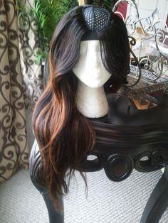 """New 2014 Brazilian human hair middle u part wig unit deep ombre mix body wave hair texture easy curl very full with body 16"""" 18"""" 20"""" 300gram on Etsy, $220.00"""