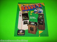 RALLY X By MIDWAY 1980 ORIGINAL NOS VIDEO ARCADE GAME MACHINE PROMO SALE FLYER in Collectibles, Arcade, Jukeboxes & Pinball, Arcade Gaming, Merchandise & Memorabilia | eBay #RallyX #ArcadeFlyer