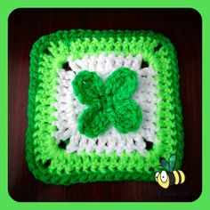 St. Patty's Day crochet granny square. Can't wait to make one of these as a cozy throw for the couch. - Pam
