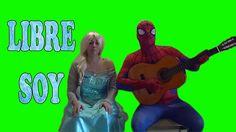 Elsa Frozen & Spiderman LIBRE SOY - Superheroes  Funny Vida Real Life movie