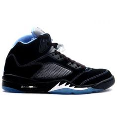 new styles 2048f f2cbe Nike Air Jordan 5 V Retro LS Lifestyle-Black University Blue- White-