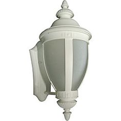 One-Light Weather-Proof White Wall Lantern -- $44