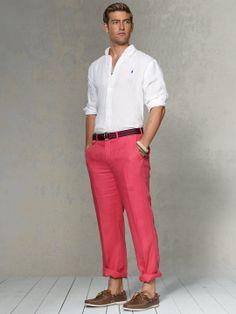Classic-Fit Linen Trouser - Classic Pants - RalphLauren.com