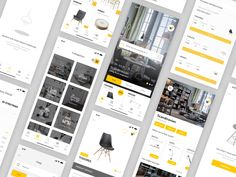Furniture App - more pages interior room shop ecommerce chair ikea furniture mobile ios ux ui app shopping Ikea Furniture, Page Design, Room Interior, Ecommerce, Photo Wall, App, Studio, Chair, Home Decor