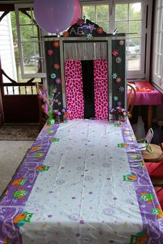 An American Girl Birthday Party!                                          with runway for dolls and girls ~!                                                                       includes:table,table cloth,boxes ,duct tape,and stickers!!!!!         so cute!!!!!