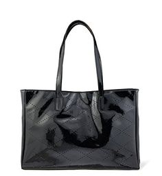 New Trending Shopper Bags: Hoxis Mesh Glamour Patent Faux Leather Shopper Tote Womens Shoulder Handbag (Black). Hoxis Mesh Glamour Patent Faux Leather Shopper Tote Womens Shoulder Handbag (Black)  Special Offer: $17.90  188 Reviews Fine Craft,15days delivery by USPSMaterial:PU LeatherTop Zipper Closure;Spacious interior features 2 open pouches and 1 zippered pocket to organize and store your...