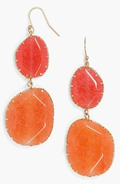 Love these coral boho drop earrings! http://rstyle.me/n/ixmwrnyg6