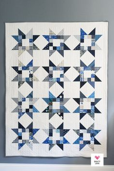 modern quilting designs Quilty Stars quilt pattern is a scrappy friendly modern quilt pattern by Emily of . Scrap buster and Stash buster quilt pattern. Star Quilt Blocks, Star Quilt Patterns, Modern Quilt Patterns, Star Quilts, Scrappy Quilts, Easy Quilts, Quilting Ideas, Circle Quilts, Two Color Quilts