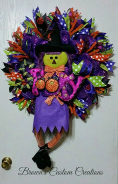 Hey, I found this really awesome Etsy listing at https://www.etsy.com/listing/244192273/halloween-deco-mesh-wreath-halloween